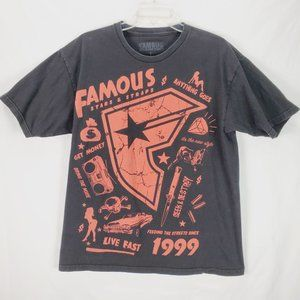 Famous Stars & Straps T Shirt Large Faded Vintage